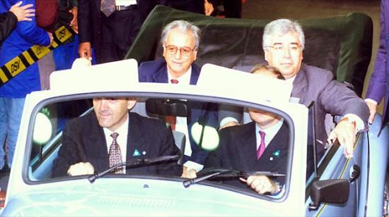 Itamar Franco visita a Volkswagen