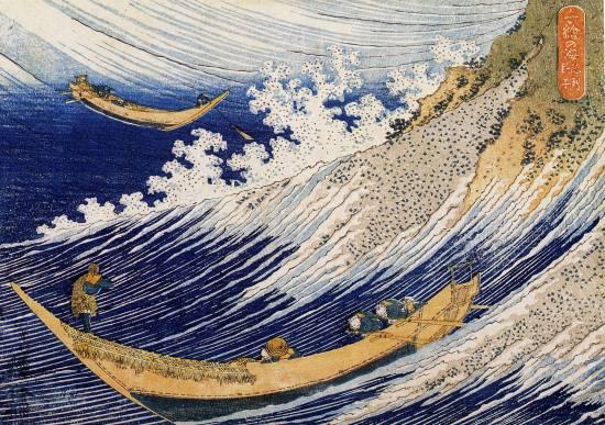 hokusai ondas e barco